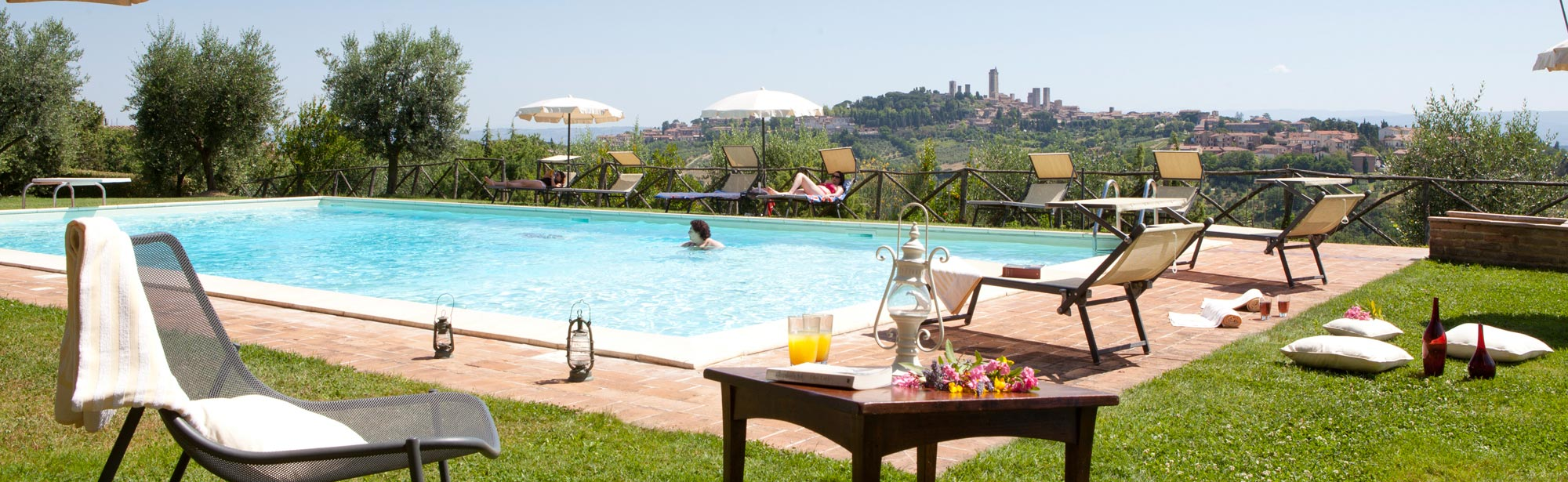 Bed and Breakfast San Gimignano Toskana, mit Schwimmbad, Panoramablick